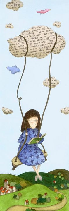Wouldn't a swing be fun in a library? I Love Books, Books To Read, My Books, Reading Art, I Love Reading, Girl Reading, Reading Books, World Of Books, Book Week