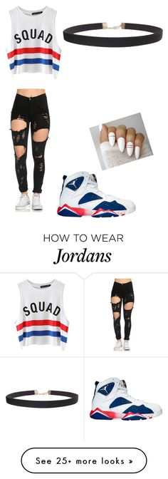 """""""4th of july"""" by khaturahmr on Polyvore featuring NIKE, Chicnova Fashion and Humble Chic"""