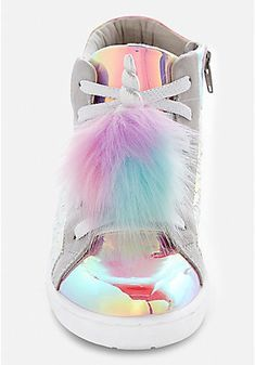 Justice is your one-stop-shop for on-trend styles in tween girls clothing & accessories. Shop our Unicorn Pompom Shoe Charm - 2 Pack. Unicorn Fashion, Unicorn Outfit, Cute Unicorn, Rainbow Unicorn, Unicorn Clothes, Unicorn Birthday, Unicorn Party, Cute Shoes, Me Too Shoes