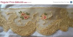 SURPRISE 25 Off SALE Antique Embroidered Bridal Shade by RuinsCa, $63.75