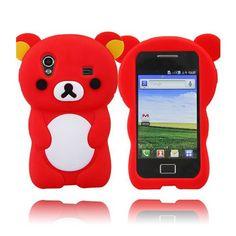 Cute Bear (Rød) Samsung Galaxy Ace Deksel