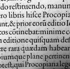Text page detail, Peter Perna, Basel, late 16th c.