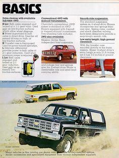 Chevy Blazer K5, K5 Blazer, Chevrolet 4x4, Vintage Chevy Trucks, Car Brochure, Thing 1, Unique Cars, General Motors, Manual Transmission