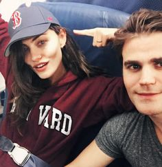 Phoebe Tonkin and Paul Wesley - phoebejtonkin: Only 24 hours in Boston and I'm already a Red Sox fan AND I graduated from Harvard ✌ Paul Wesley Phoebe Tonkin, Paul And Phoebe, The Originals Tv, Vampire Diaries The Originals, Stefan Salvatore, New Orleans, Cw Series, Book Series, Delena