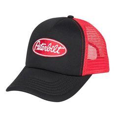 9e6eb5c889871 Peterbilt Hats - Peterbilt Caps - Peterbilt Merchandise - Peterbilt Motors  Black   Red Foam Mesh Trucker Snapback Caps