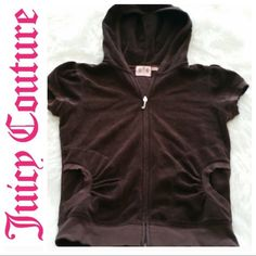 """💞SALE💞 Juicy Couture Brown Jacket Awesome Brown Juicy Couture Short Sleeved Jacket 20"""" from top of shoulder to bottom 16"""" from armpit to armpit 80% Cotton 20% Polyester Juicy Couture Jackets & Coats"""