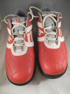 MBT Red and White Lifestyle 01 Rocker Shoes SPOTLESS Sz 8.5 Men 10.5 Women's