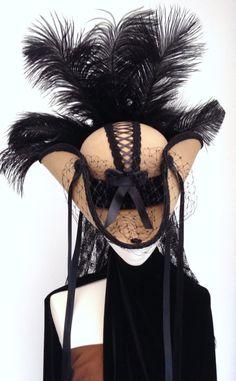 Lady Buchanan corset top cream & black steampunk by Blackpin