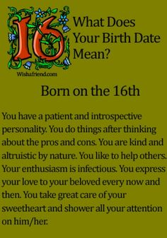 numerology from date of birth 16 october