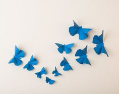 Blue butterfly wall decor by hipandclavicle