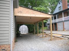 Building Your Own Carport Can Be A Great Way To Store Your Car - Carport off house
