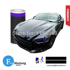 """Cheap cap child, Buy Quality cap wrench directly from China cap edge Suppliers: Pair 20*450cm (8""""x177"""") Matte black Mustang Racing stripe purple pinstripe on a Black Mustang GT/CS American Muscle Sticker"""