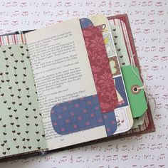 Using an old book cover, add scrapbooking paper, tags and ephemera back to the book to create a one-of-a-kind memory journal   from I Love It All.