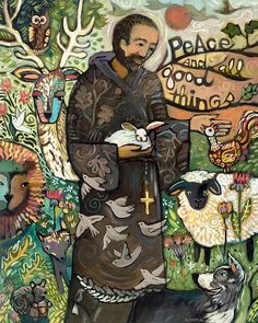 Saint Francis by Jen Norton - Saint Francis Painting - Saint Francis Fine Art Prints and Posters for Sale