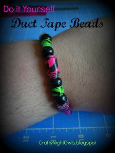 Duct Tape Bead Tutorial craftynightowls.blogspot.com #duct_tape #beads #how_to #instructions #kid_friendly_craft #jewelry