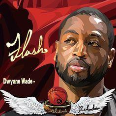Dwyane Wade - 25*25cm pop art wall-picture #pop #art #nba #Dwyane #Wade #theflash #閃電俠 #韋德 Basketball Pictures, Football And Basketball, Justise Winslow, Dwyane Wade, Miami Heat, The Flash, Picture Wall, Sliders, Celtic