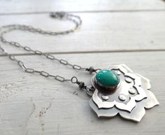 Lotus Blossom Necklace by Lost Sparrow Jewelry