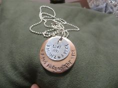 Hand stamped necklace a bushel and a peck by LynnSchoeniJewelry