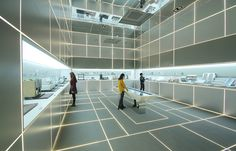 aworks floats steel cloud for posco green building exhibition - designboom | architecture & design magazine