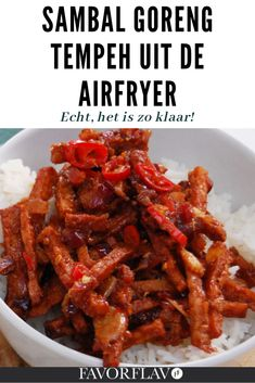 Indonesian Cuisine, Tempeh, Air Fryer Recipes, Free Food, Spicy, Cooking Recipes, Beef, Vegan, Asparagus