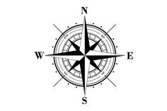 Vector compass rose (windrose) - 3 by MSA on Creative Market