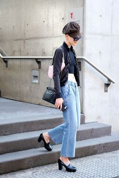 Chunky Shoes Look Great With Your Wide-Leg Denim