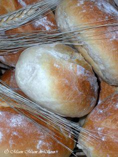Ces petits pains portuguais présentent une mie très blanche, fondante presque briochée INGREDIENTS 600 gr de farine, 200 gr d'eau, 200 gr de lait, 1/2 cc de sel, 20 gr de beurre, 2 cas de flocons de pommes de terre instantané, 2 cc de levure boulangère.... Breads, Food, Pastries, World Cuisine, Flat Cakes, Apples, Bakery Business, Essen, Braided Pigtails
