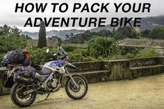 Tips from a seasoned overlanding couple. How to pack your adventure motorcycle for a long term trip. Camping Equipment, Camping Gear, Trailers, Motorcycle Camping, Motorcycle Touring, Girl Motorcycle, Motorcycle Quotes, Klr 650, Visit Portugal