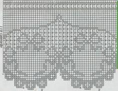 Schemi per il filet: Bordi, pizzi e tramezzi per arredare pag_3 Crochet Edging Patterns, Crochet Borders, Crochet Motif, Crochet Doilies, Cross Stitch Patterns, Knit Crochet, Filet Crochet, Thread Crochet, Irish Crochet
