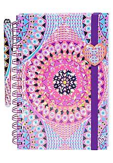 Medallion Spiral Bound Journal With Pen