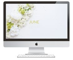June Desktop Calendar + iPhone Wallpaper - FREE | AshleeProffitt.com/blog