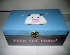 League of Legends Poro Hand Painted Wooden by LeftHandedGeekery, $35.00