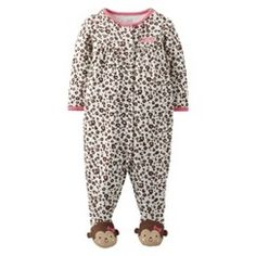 Just One You™Made by Carter's® Newborn Girls' Sleep N' Play - Brown/Pink NB