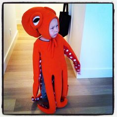Children's Octopus Halloween Costume sewed by my sister. No Pattern!!
