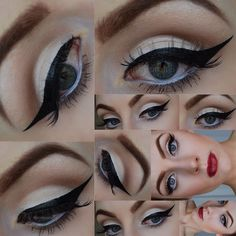 Classic Retro Pin Up makeup with Lorac Pro Palette #halloween