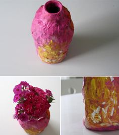 paper mache. There could be a multiple day project!. make a paper vase and paper flowers. I should probably find out if group will have more then one art day.
