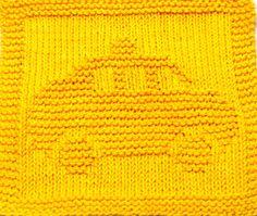 Knitting Cloth Pattern TAXI PDF by ezcareknits on Etsy, $3.00