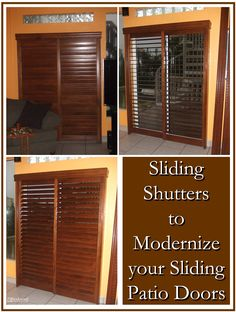 Modernize your sliding patio doors with sliding shutters @Rockwood Shutters