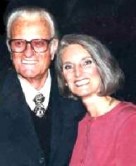 -Anne Graham Lotz with her father Dr. Billy Graham