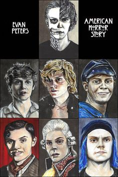 All 7 Evan Peters Characters from American Horror Story Copic #american horror story #americanhorrorstory #ahs #evan peters #evanpeters #americanhorrorstoryfanart #ahsfanart