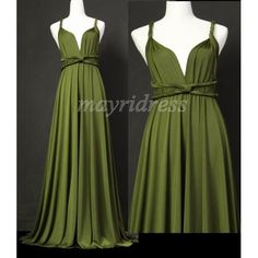 Olive Full Length Infinity Dress Wrap Convertible Dress Evening Bridesmaid Maxi Dress  $99 MADE TO YOUR SIZE & LENGTH.