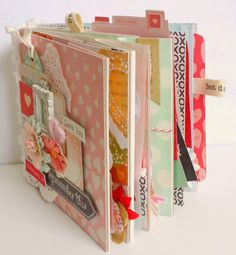 Memory Lane: Valentine Album Using Crate Paper Kiss Kiss Collection and Love Notes Collection