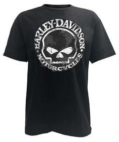 Amazon.com: Harley-Davidson Men's T-Shirt, Hand Made Willie G Skull Distressed 30294030: Harley-Davidson: Clothing