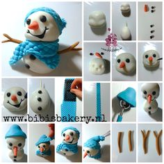promised a friend for my snowman, so he can have a snowball fight. And here he is, with his pictorial. Which one are you going to make ? xxx Bibi #bibisbakery