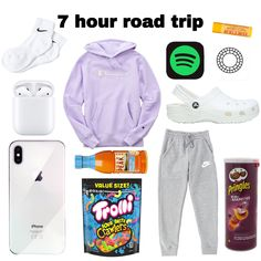Road Trip Packing List, Road Trip Hacks, Packing Checklist, Road Trips, Travel Bag Essentials, Road Trip Essentials, Road Trip Outfit, Teen Trends, Cute Lazy Outfits