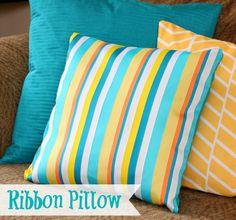 Ribbon Pillow great tutorial