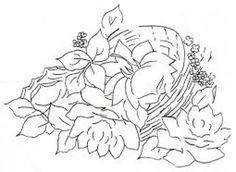 Pintura em Tecido, Como fazer, Passo a passo, Riscos e muitas dicas.: Riscos para pintura em tecido cestas de rosas