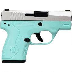 "Beretta Nano Semi Auto Pistol 9mm Luger 3"" Barrel 6 Rounds Two Tone Robin's Egg Blue Polymer Frame INOX Slide Finish"
