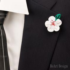 Cerezo flor solapa Pin/primavera flor/blanco solapa por BoArtDesign