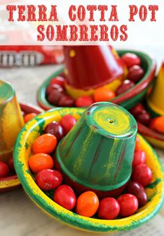 Get ready for your Cinco de Mayo party with this festive sombrero project. Learn how to make terra cotta sombreros on the blog: http://scrappygeek.com/diy-terra-cotta-pot-sombreros/   #MMSFlavorVote #Walmart #cbias | ad
